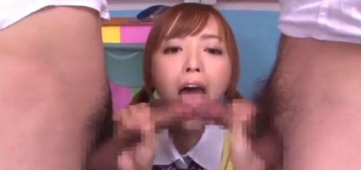 【並木優】クラスのマドンナJKが教室でオナニー後、クラスメイトのチ○ポを連続手コキ&フェラ