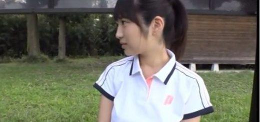 【藤江史帆】テニスウェアの美少女が、コーチからラケットを使用されてセクハラ指導