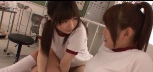 【前田陽菜】体操服のレズビアンたちが、保健室のベッドでベロチュー&手マン